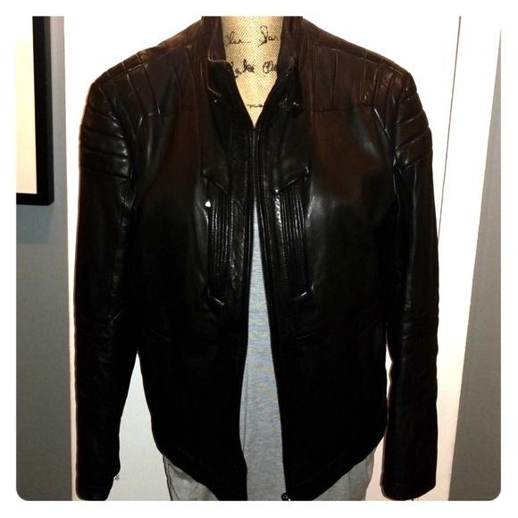 0d0973e4c Boss Jackets & Coats | Hugo Mclaren Sport Moto Leather Jacket | Poshmark